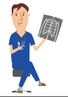 骨の説明をする医者
